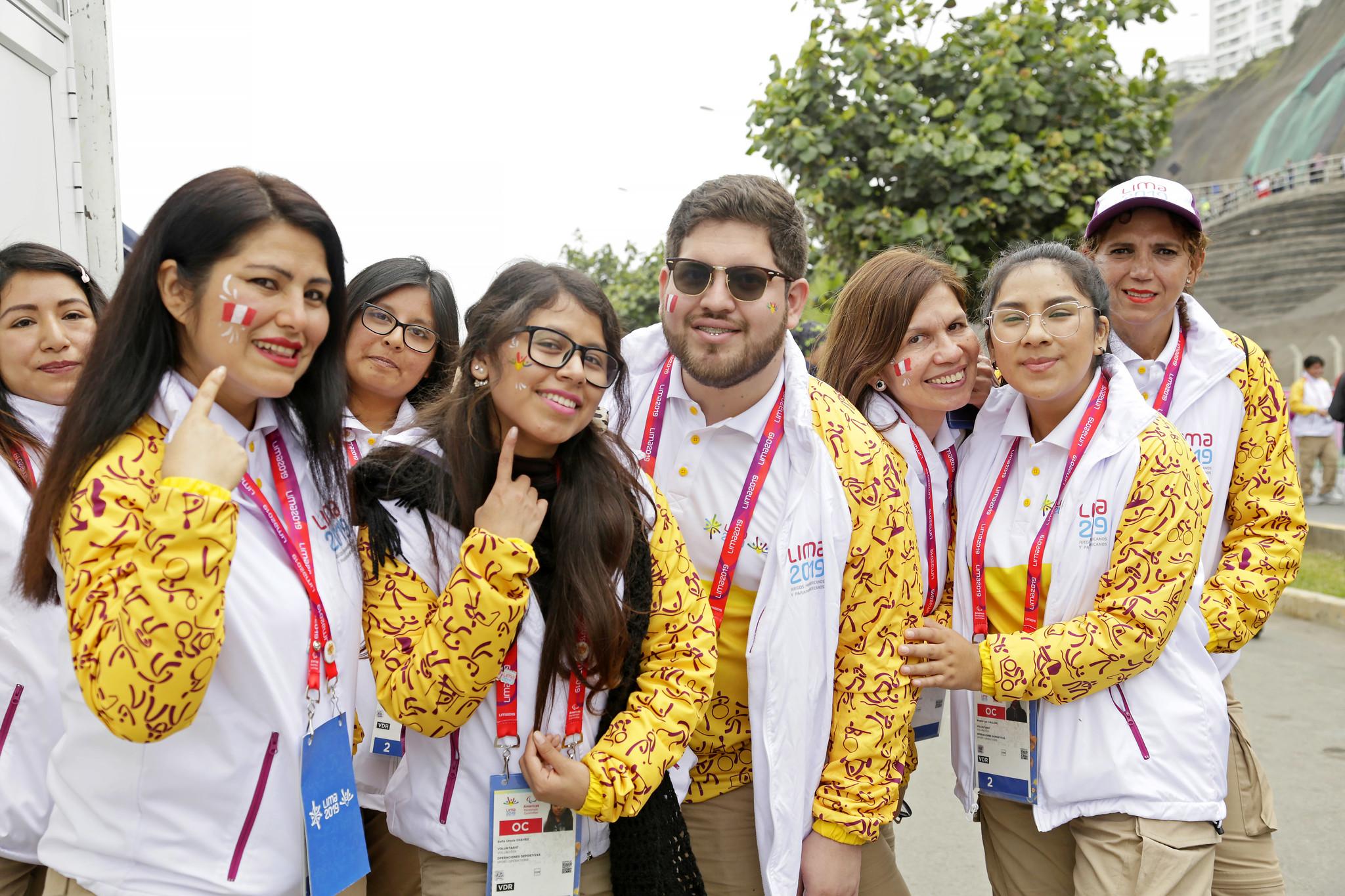 Lima 2019   CERCA DE 6 MIL VOLUNTARIOS PARTICIPARON EN LOS JUEGOS  PARAPANAMERICANOS LIMA 2019