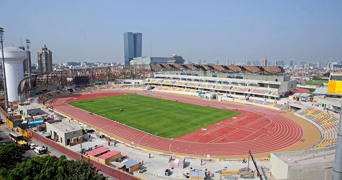 The Lima 2019 track is like the one seen in London 2012 Olympic Stadium
