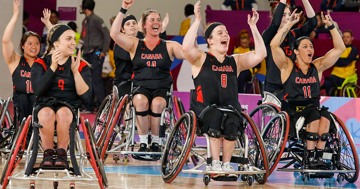 Canadian women's wheelchair basketball team at Lima 2019
