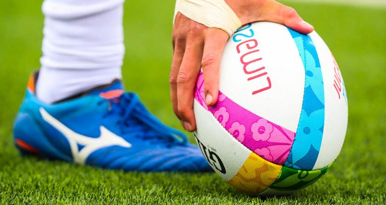 Lima 2019 rugby ball during the match between the USA and Guyana