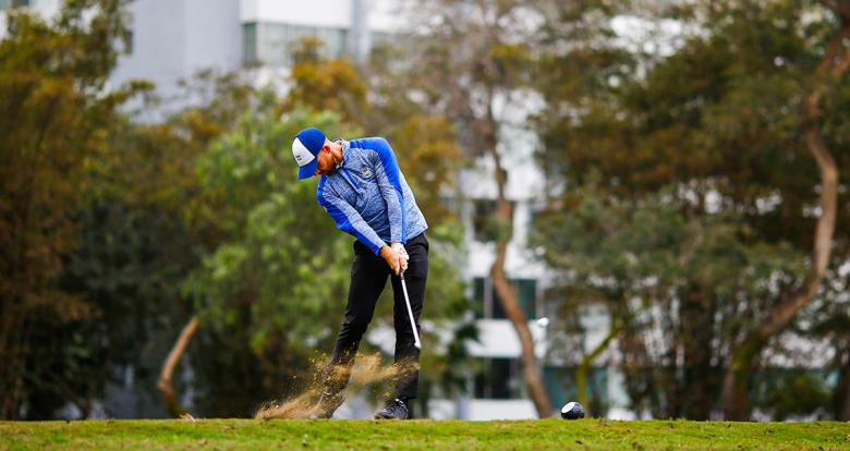 Miguel Carballo from Argentina during Lima 2019 golf competition held at the Lima Golf Club.
