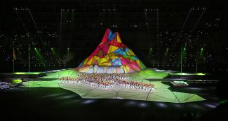 Main stage of the Lima 2019 Pan American Games Opening Ceremony