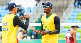 Brazil won its first match against Costa Rica - Beach volleyball