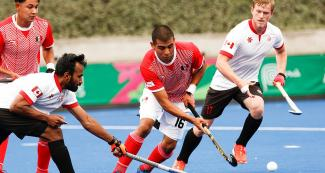 The Canadian hockey team beat Mexico 5 to 1 at Lima 2019.