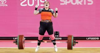 María Fernanda Valdés won the gold in women's 87 kg category at Lima 2019