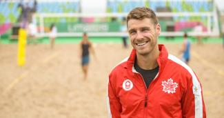 Aaron Nusbaum from Canada, Beach volleyball, Lima 2019