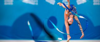 Rhythmic gymnastics performance on the road to Lima 2019