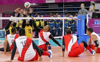 Lima 2019 Men S Sitting Volleyball Kicks Off With Festive Atmosphere At Callao Sports Center