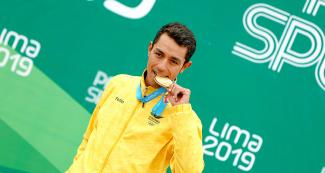 The Colombian cyclist Daniel Martínez was the winner of the Lima 2019 time trial event at Costa Verde San Miguel