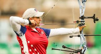 Paige Pearce will fight for the bronze in the Lima 2019 compound bow competition