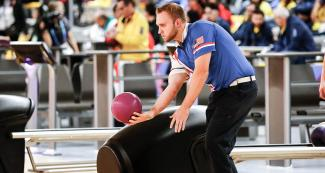 Nicholas Pate from the US competing in the Lima 2019 bowling final held at the National Sports Village – VIDENA.