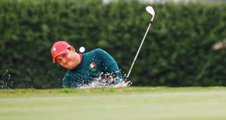 Raul Cortes de la Riva from Mexico during Lima 2019 golf competition held at the Lima Golf Club.