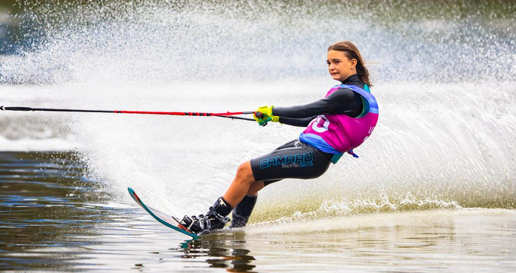 Francesca Pigozzi during the water ski competition