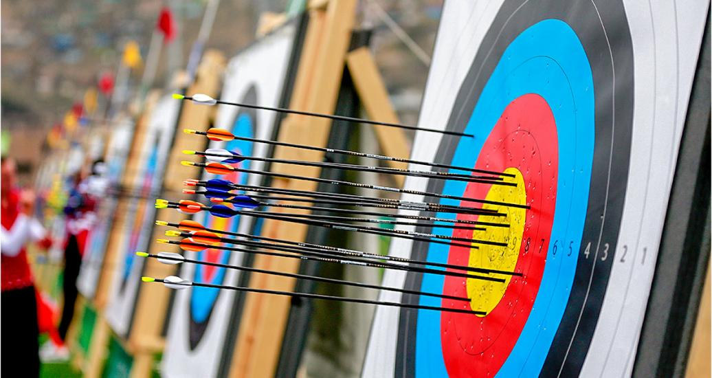 Arrows right on target at recurved bow event at villa María del Triunfo Sports Center, Lima 2019 Games